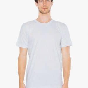 Heather Grey American Apparel UNISEX FINE JERSEY SHORT SLEEVE T-SHIRT Pólók/T-Shirt