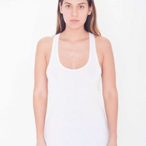 White American Apparel WOMEN'S SUBLIMATION RACERBACK TANK Pólók/T-Shirt