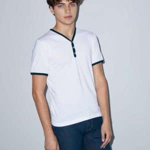 American Apparel UNISEX POLY-COTTON Y-NECK RINGER TEE Pólók/T-Shirt