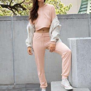 American Apparel WOMEN'S TRI-BLEND LEISURE PANTS Nadrágok és Alsóruházat