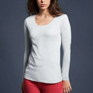 Anvil WOMEN'S FEATHERWEIGHT LONG SLEEVE SCOOP TEE Pólók/T-Shirt