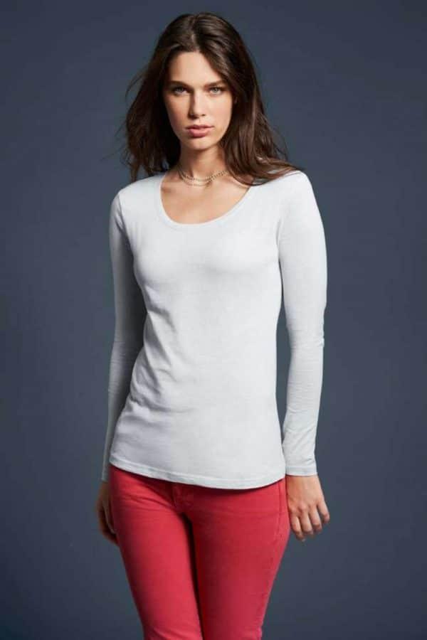 Anvil WOMEN'S FEATHERWEIGHT LONG SLEEVE SCOOP TEE Pólók/T-Shirt