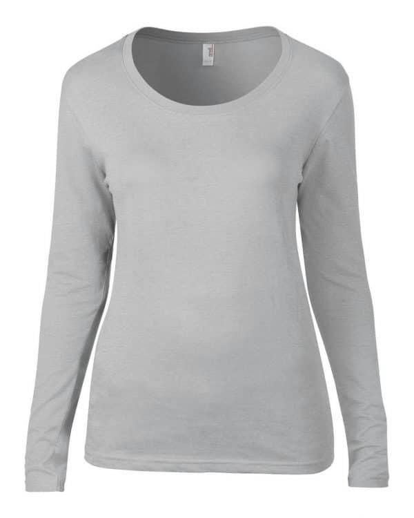 Silver Anvil WOMEN'S FEATHERWEIGHT LONG SLEEVE SCOOP TEE Pólók/T-Shirt