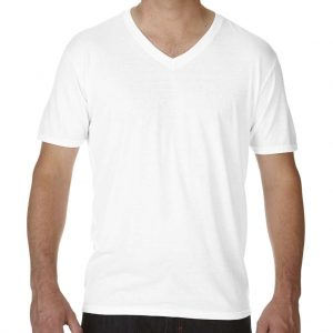 White Anvil ADULT TRI-BLEND V-NECK TEE Pólók/T-Shirt