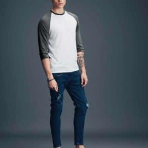 Anvil ADULT TRI-BLEND ¾ SLEEVE RAGLAN TEE Pólók/T-Shirt