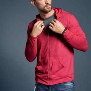 Anvil ADULT TRI-BLEND FULL-ZIP HOODED JACKET Pólók/T-Shirt