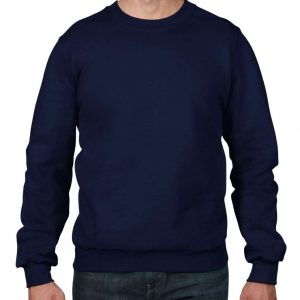 Navy Anvil ADULT CREWNECK FLEECE Pulóverek