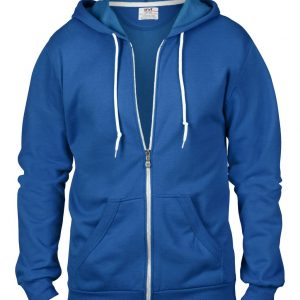 Royal Blue Anvil ADULT FULL-ZIP HOODED FLEECE Pulóverek