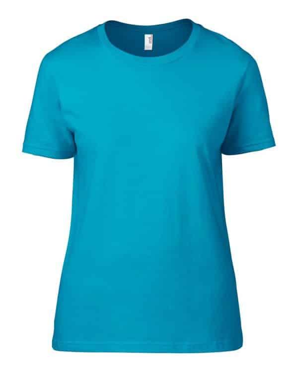 Caribbean Blue Anvil WOMEN'S LIGHTWEIGHT TEE Pólók/T-Shirt