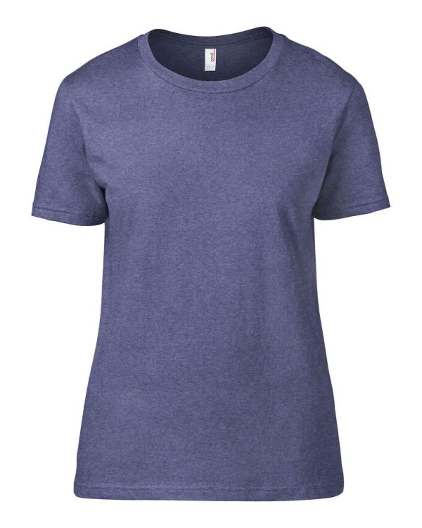 Heather Blue Anvil WOMEN'S LIGHTWEIGHT TEE Pólók/T-Shirt