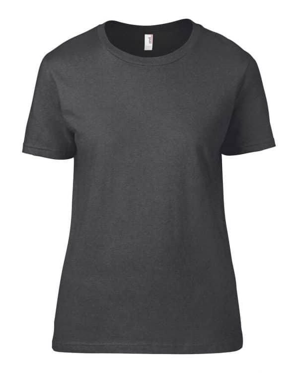 Heather Dark Grey Anvil WOMEN'S LIGHTWEIGHT TEE Pólók/T-Shirt