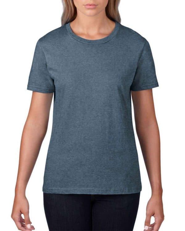 Heather Navy Anvil WOMEN'S LIGHTWEIGHT TEE Pólók/T-Shirt