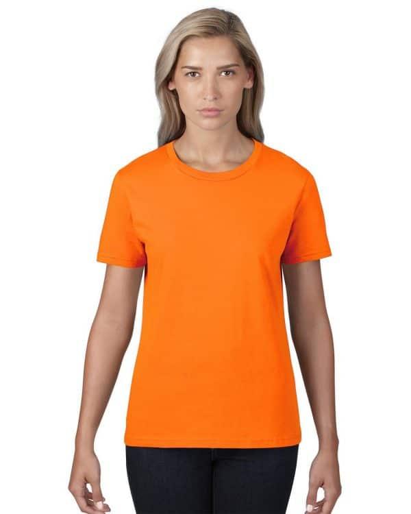 Neon Orange Anvil WOMEN'S LIGHTWEIGHT TEE Pólók/T-Shirt