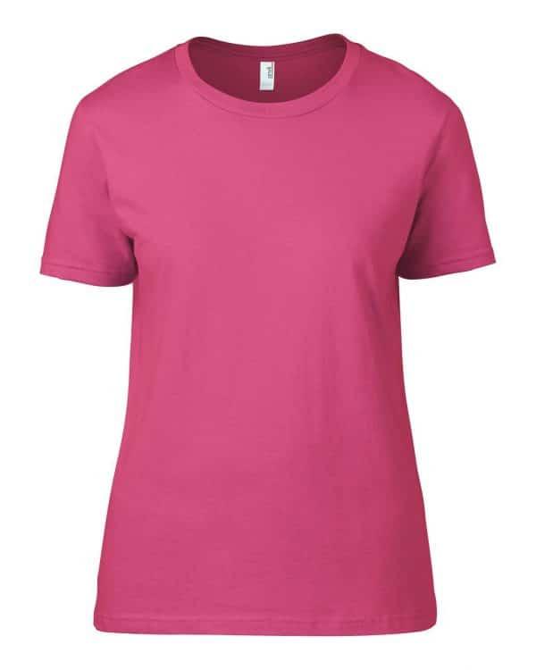 Neon Pink Anvil WOMEN'S LIGHTWEIGHT TEE Pólók/T-Shirt