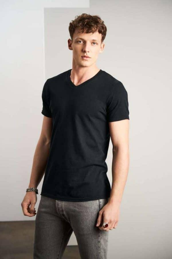 Anvil ADULT LIGHTWEIGHT V-NECK TEE Pólók/T-Shirt
