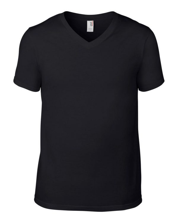 Black Anvil ADULT LIGHTWEIGHT V-NECK TEE Pólók/T-Shirt