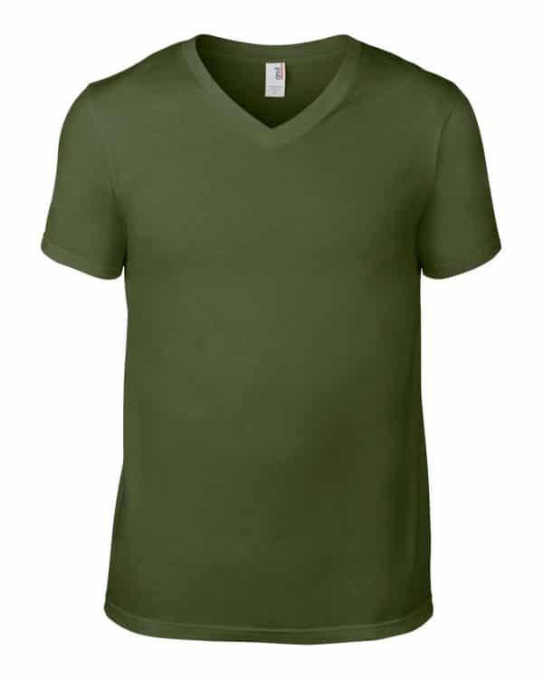 City Green Anvil ADULT LIGHTWEIGHT V-NECK TEE Pólók/T-Shirt