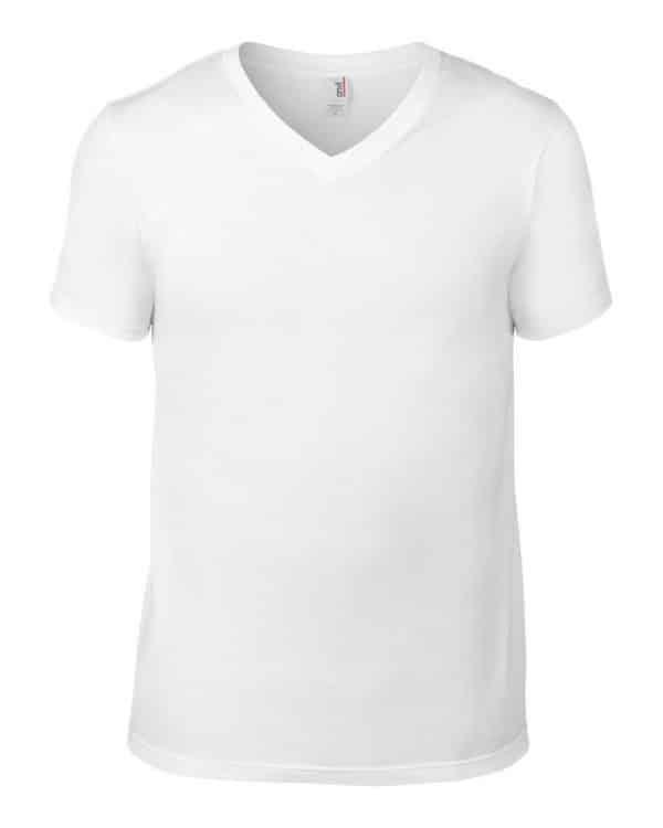 White Anvil ADULT LIGHTWEIGHT V-NECK TEE Pólók/T-Shirt