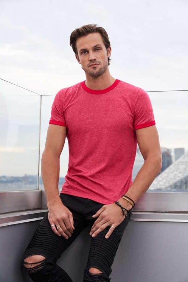Anvil ADULT LIGHTWEIGHT RINGER TEE Pólók/T-Shirt