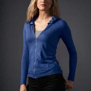 Anvil WOMEN'S TRI-BLEND FULL-ZIP HOODED JACKET Pólók/T-Shirt