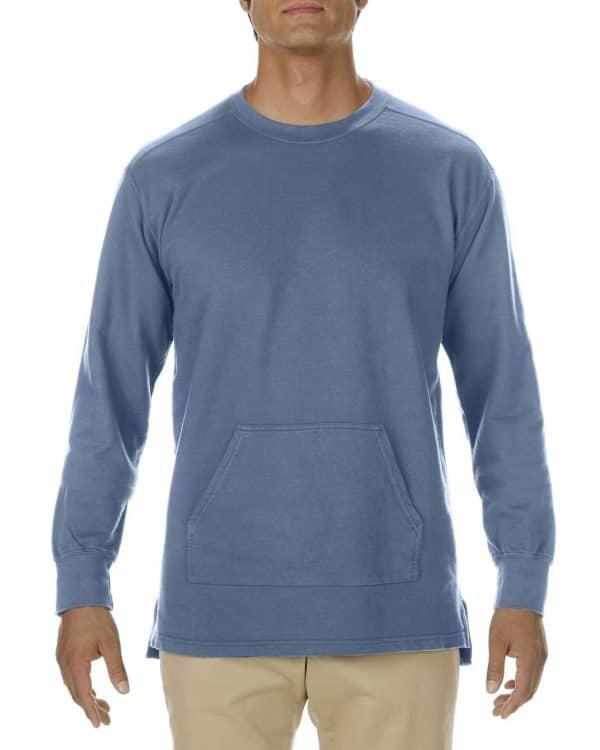 Blue Jean Comfort Colors ADULT FRENCH TERRY CREWNECK Pulóverek