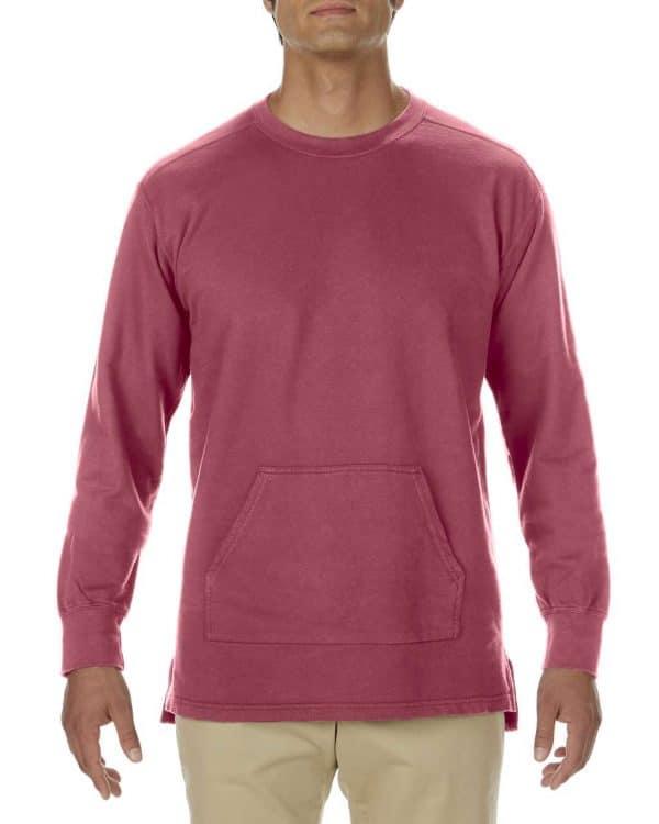 Crimson Comfort Colors ADULT FRENCH TERRY CREWNECK Pulóverek
