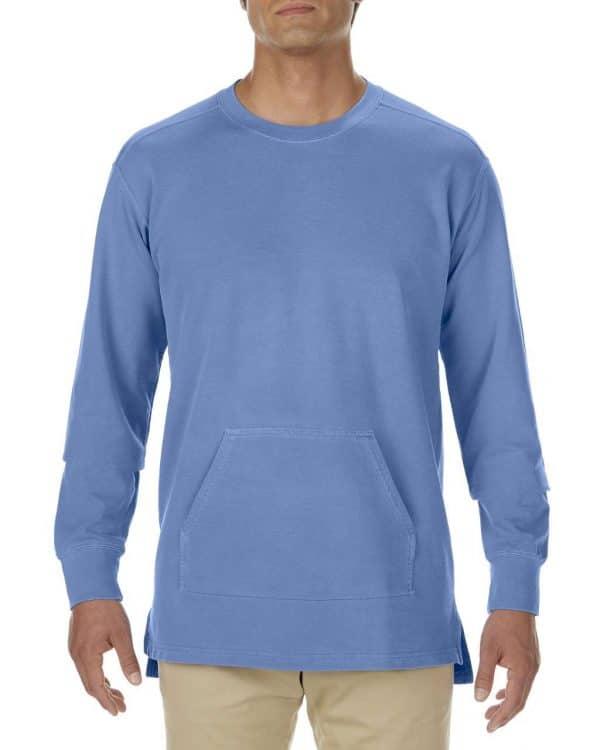 Flo Blue Comfort Colors ADULT FRENCH TERRY CREWNECK Pulóverek