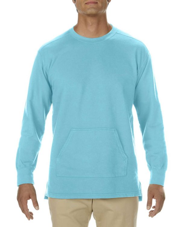 Lagoon Blue Comfort Colors ADULT FRENCH TERRY CREWNECK Pulóverek