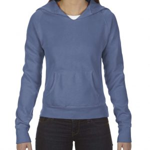 Blue Jean Comfort Colors LADIES' HOODED SWEATSHIRT Pulóverek