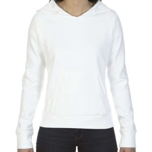 White Comfort Colors LADIES' HOODED SWEATSHIRT Pulóverek