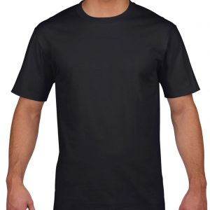Black Gildan PREMIUM COTTON® ADULT T-SHIRT Pólók/T-Shirt