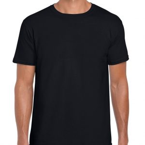 Black Gildan SOFTSTYLE® ADULT T-SHIRT Pólók/T-Shirt