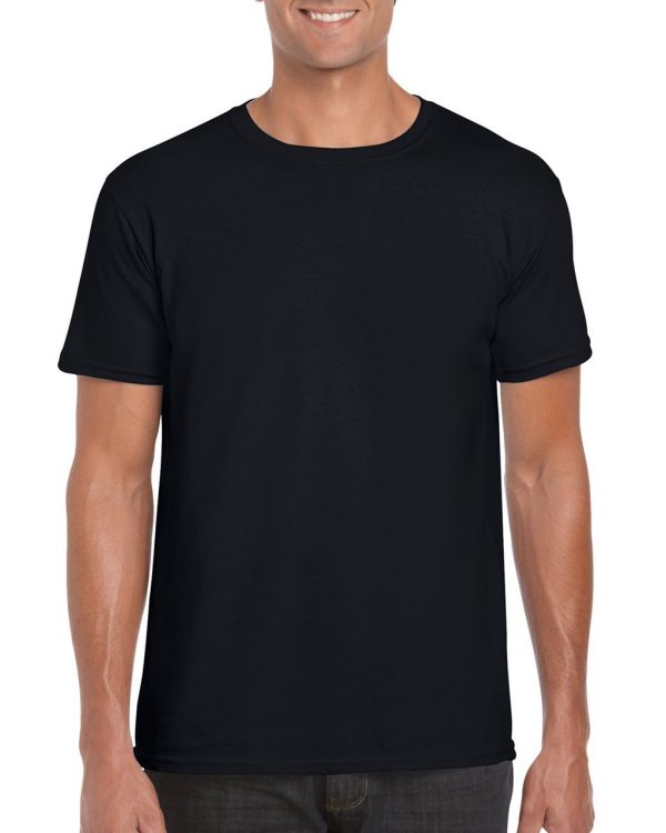 Black Gildan SOFTSTYLE® ADULT T-SHIRT Pólók/T-Shirt