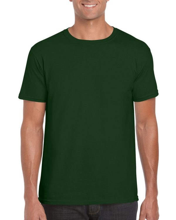 Forest Green Gildan SOFTSTYLE® ADULT T-SHIRT Pólók/T-Shirt