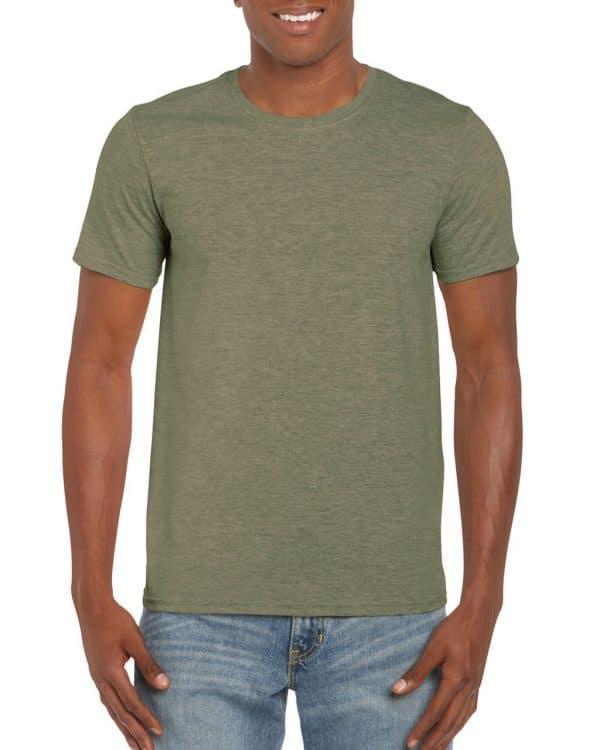 Heather Military Green Gildan SOFTSTYLE® ADULT T-SHIRT Pólók/T-Shirt