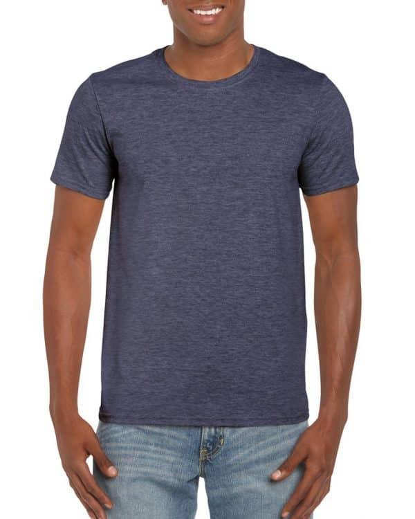 Heather Navy Gildan SOFTSTYLE® ADULT T-SHIRT Pólók/T-Shirt