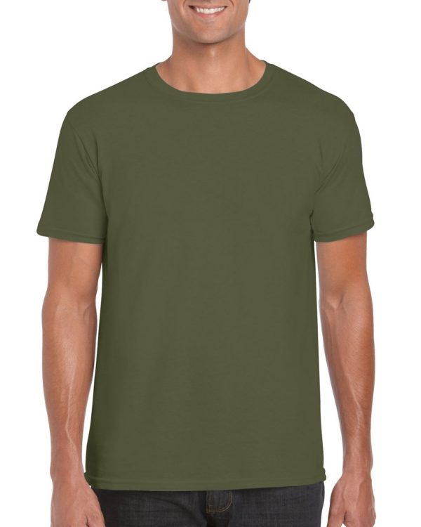 Military Green Gildan SOFTSTYLE® ADULT T-SHIRT Pólók/T-Shirt