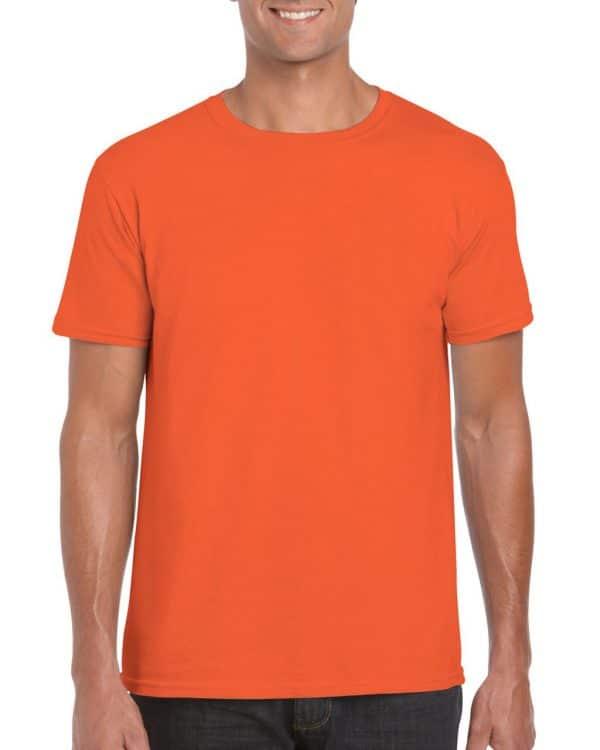 Orange Gildan SOFTSTYLE® ADULT T-SHIRT Pólók/T-Shirt