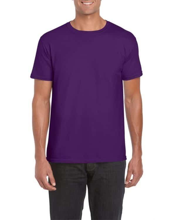Purple Gildan SOFTSTYLE® ADULT T-SHIRT Pólók/T-Shirt