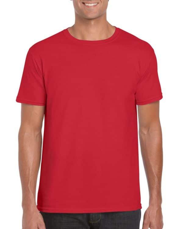Red Gildan SOFTSTYLE® ADULT T-SHIRT Pólók/T-Shirt