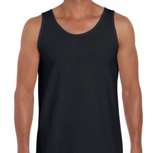 Black Gildan SOFTSTYLE® ADULT TANK TOP Pólók/T-Shirt