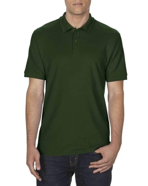 Forest Green Gildan DRYBLEND® ADULT DOUBLE PIQUÉ POLO Galléros pólók