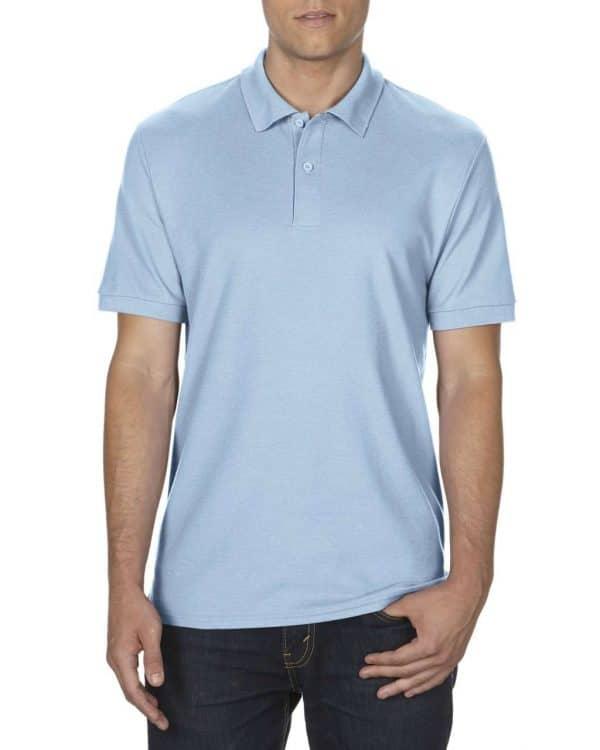 Light Blue Gildan DRYBLEND® ADULT DOUBLE PIQUÉ POLO Galléros pólók
