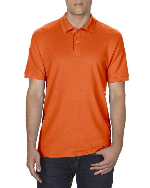 Orange Gildan DRYBLEND® ADULT DOUBLE PIQUÉ POLO Galléros pólók