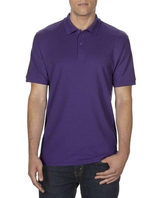 Purple Gildan DRYBLEND® ADULT DOUBLE PIQUÉ POLO Galléros pólók