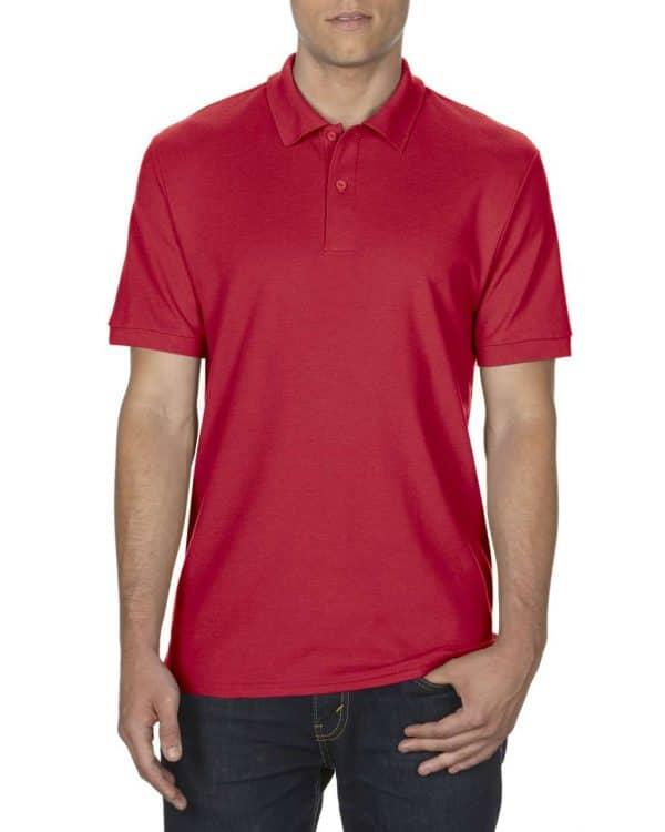 Red Gildan DRYBLEND® ADULT DOUBLE PIQUÉ POLO Galléros pólók