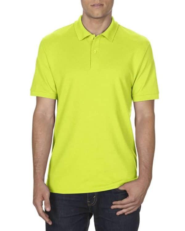 Safety Green Gildan DRYBLEND® ADULT DOUBLE PIQUÉ POLO Galléros pólók