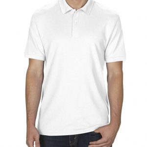 White Gildan DRYBLEND® ADULT DOUBLE PIQUÉ POLO Galléros pólók