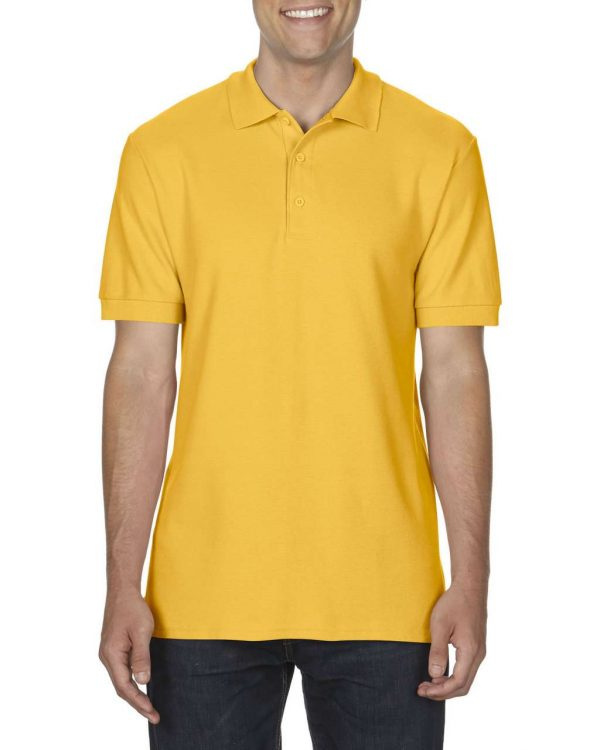 Gold Gildan PREMIUM COTTON® ADULT DOUBLE PIQUÉ POLO Galléros pólók