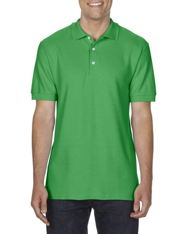Irish Green Gildan PREMIUM COTTON® ADULT DOUBLE PIQUÉ POLO Galléros pólók